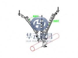 單管縱向抗震支架